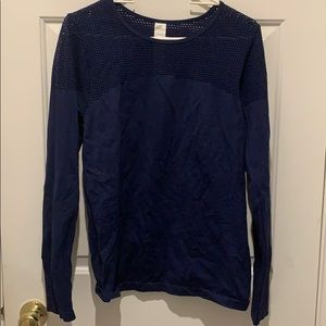 Fabletics Navy Long Sleeve Workout Top